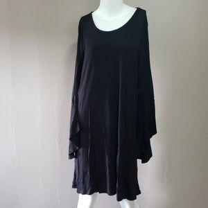 Jm Collection Black Gypsy Inspired Dress Sz M NWT